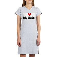 I Love My Rats Women's Nightshirt