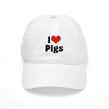 I Love Pigs Baseball Cap