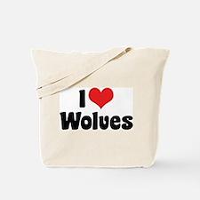 I Love Wolves 2 Tote Bag