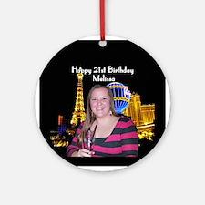 Melissa 21st Birthday Ornament (Round)