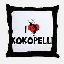 I Love Kokopelli Throw Pillow