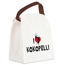 I Love Kokopelli Canvas Lunch Bag