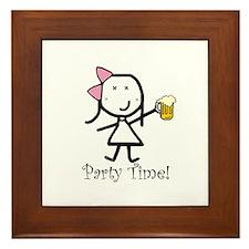 Beer - Party Time Framed Tile