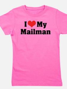 I Love My Mailman Girl's Tee