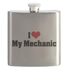 I Love My Mechanic Flask