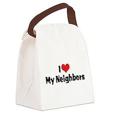 I Love My Neighbors Canvas Lunch Bag