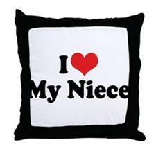 I Love My Niece Throw Pillow