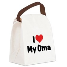 I Love My Oma Canvas Lunch Bag