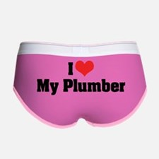 I Love My Plumber Women's Boy Brief