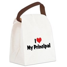 I Love My Principal Canvas Lunch Bag
