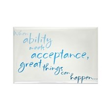 Ability Meets Acceptance Rect. Magnet (10 pack)