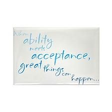 Ability Meets Acceptance Rectangle Magnet
