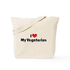 I Love My Vegetarian Tote Bag