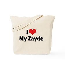 I Love My Zayde Tote Bag