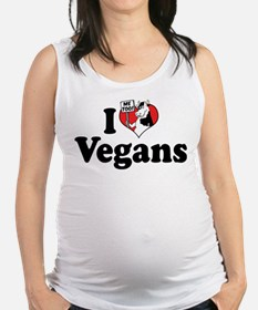 I Love Vegans Maternity Tank Top