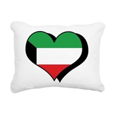 I Love Kuwait Rectangular Canvas Pillow