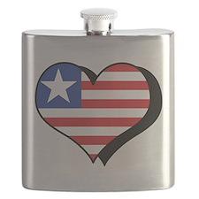 I Love Liberia Flask