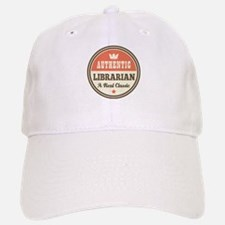 Librarian Funny Vintage Baseball Baseball Cap