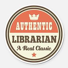 Librarian Funny Vintage Round Car Magnet