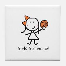 Girls Got Game Tile Coaster