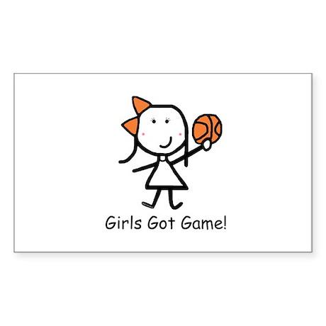 Girls Got Game Sticker (Rectangle)