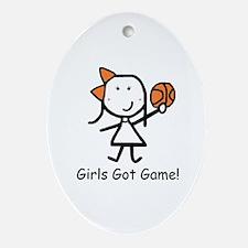 Girls Got Game Ornament (Oval)