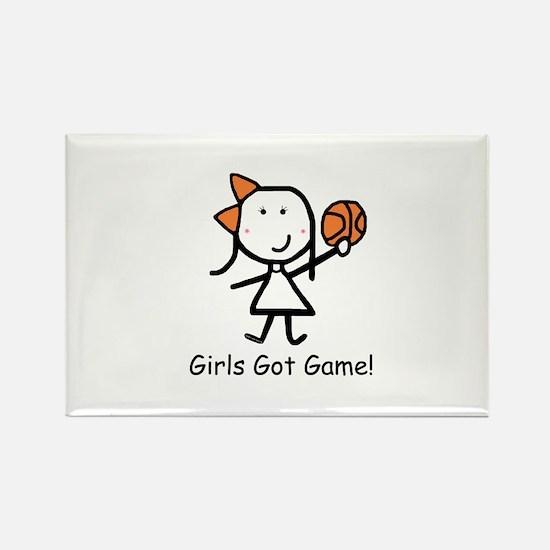 Girls Got Game Rectangle Magnet