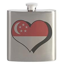I Love Singapore Flask