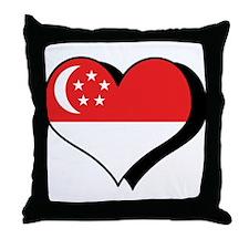 I Love Singapore Throw Pillow