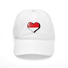 I Love Singapore Baseball Cap