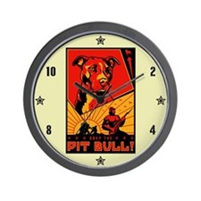 Obey the Pit Bull! Wall Clock