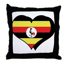 I Love Uganda Throw Pillow