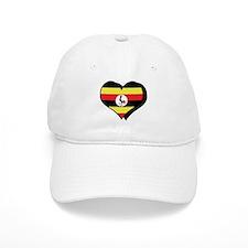 I Love Uganda Baseball Cap