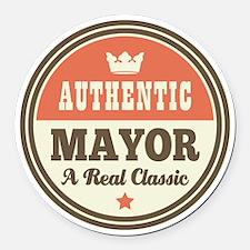 Mayor Funny Vintage Round Car Magnet