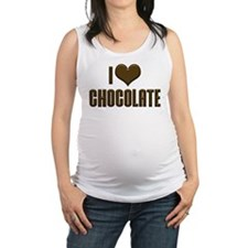 I Love Chocolate Maternity Tank Top
