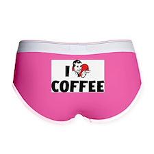 I Love Coffee Women's Boy Brief