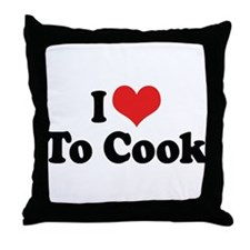 I Love To Cook 2 Throw Pillow
