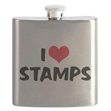 I Love Stamps 2 Flask