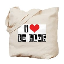 I Love To Blog Tote Bag