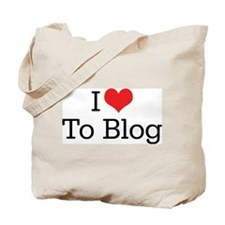 I Love To Blog 2 Tote Bag
