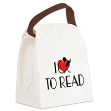 I Love To Read Canvas Lunch Bag