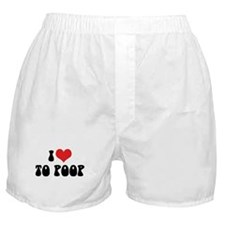 I Love To Poop Boxer Shorts