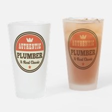 Plumber Vintage Drinking Glass