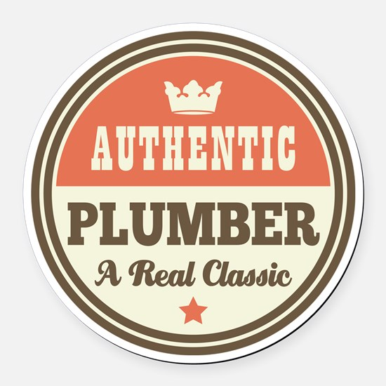 Plumber Vintage Round Car Magnet