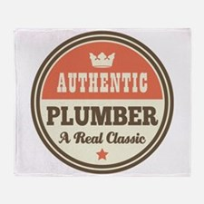 Plumber Vintage Throw Blanket