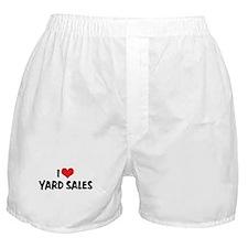 I Love Yard Sales Boxer Shorts