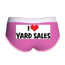 I Love Yard Sales Women's Boy Brief