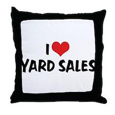 I Love Yard Sales Throw Pillow