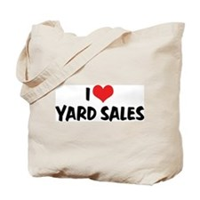 I Love Yard Sales Tote Bag
