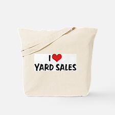 I Love Yard Sales Tote Bag
